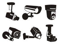 6安全监控相机 免版税库存图片