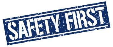 安全第一盖印 向量例证