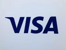 安全签证商标全球性付款系统的安全迅速和 图库摄影