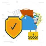 安全网上云彩数据存储 免版税库存图片