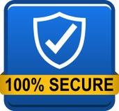 100安全网按钮 免版税库存图片