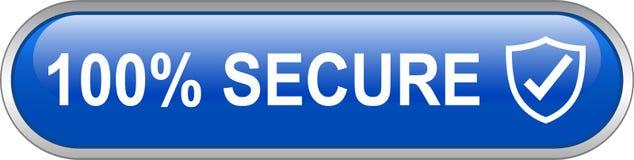 100安全网按钮 向量例证