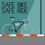安全自行车安全乘驾 库存照片