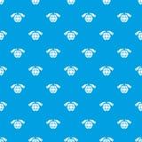 安全行星样式传染媒介无缝的蓝色 免版税库存照片