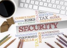 安全词云彩 浏览生意人服务台办公室万维网白色 免版税库存照片