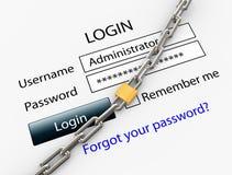 安全连接数的互联网 免版税图库摄影