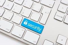 安全钥匙和锁标志 免版税库存图片