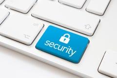安全钥匙和锁标志 库存照片