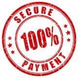 100安全付款邮票 免版税库存照片