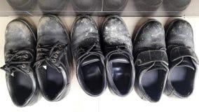 黑安全靴 免版税库存照片