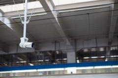 安全CCTV显示器不适当的行为 库存图片