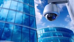 安全CCTV照相机动画背景 向量例证