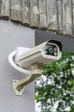 安全CCTV照相机和都市录影 免版税库存图片