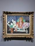 安内利斯、白色郁金香和银莲花属-绘画亨利・马蒂斯 库存照片