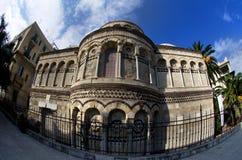 安农齐亚塔dei Catalani的教会的近星点从12世纪在墨西拿,西西里岛,意大利 免版税库存图片