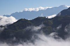 安南高地山脉在老挝 免版税图库摄影