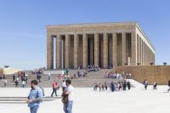 安卡拉,土耳其- 2015年5月05日:阿塔图尔克陵墓照片  免版税库存图片