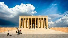 安卡拉,土耳其- 2012年10月25日:阿塔图尔克陵墓, Anitkabir 免版税库存照片