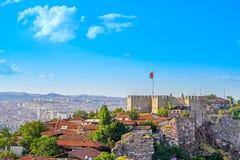 安卡拉-安卡拉,土耳其城堡  免版税图库摄影