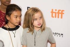 安吉丽娜・朱莉出席`养家糊口的人`首放在多伦多国际电影节 库存图片