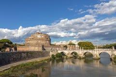 安吉洛桥梁城堡圣徒 库存图片