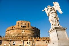 安吉洛castel意大利sant的罗马 图库摄影