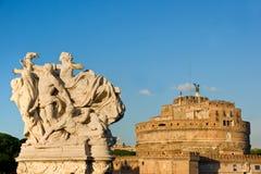 安吉洛castel意大利sant的罗马 库存照片