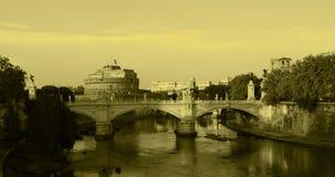 安吉洛castel罗马sant视图 库存图片