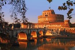 安吉洛castel sant的罗马 库存图片