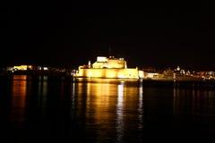 安吉洛堡垒全部港口马耳他st 库存图片