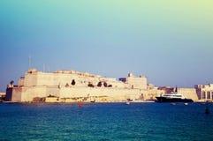 安吉洛堡垒st视图 马耳他 库存图片