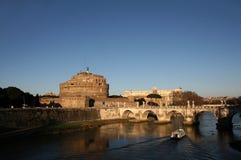 安吉洛castel意大利罗马s 库存照片