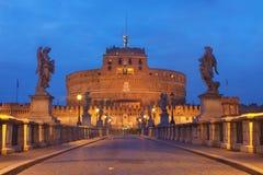 安吉洛castel sant的罗马 免版税库存图片
