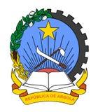 安哥拉共和国徽章、封印或者国徽 皇族释放例证