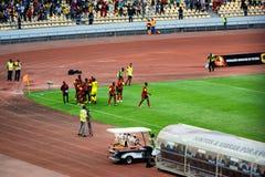 安哥拉国家足球队员 库存照片