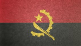 安哥拉旗子的原始的3D图象 图库摄影