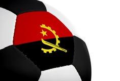 安哥拉旗标橄榄球 库存图片