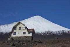 安图科火山火山在拉古纳de Laja国家公园,智利 免版税库存照片