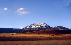 安地斯包括秘鲁雪 免版税库存图片