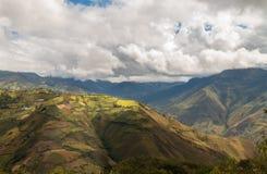 安地斯山的山的风景在秘鲁的北部的 免版税库存照片