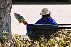 安地斯山的现有量空转的妇女羊毛 免版税图库摄影