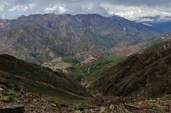 安地斯山的看法 免版税库存照片