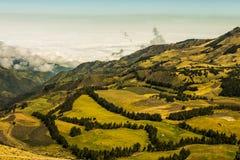 安地斯山的风景南美洲 图库摄影