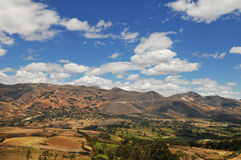 安地斯山秘鲁范围 免版税库存图片