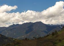 安地斯山,南美洲,厄瓜多尔 图库摄影