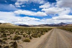 安地斯的altiplano的一片沙漠在玻利维亚 库存照片