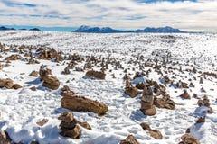 安地斯,路库斯科普诺,秘鲁,南美。上面4910 m。最长的大陆山脉在世界上 库存图片