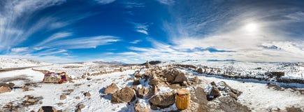 安地斯,路库斯科普诺,秘鲁,南美上面4910 m 库存图片
