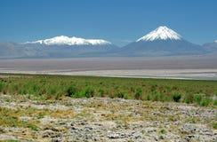 安地斯licancabur火山 图库摄影