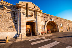 安地比斯市墙壁在法国 库存照片
